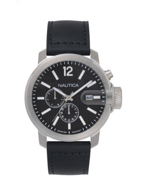 שעון יד NAUTICA לגבר עם רצועת עור דגם NAPSYD015