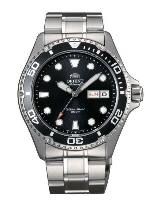 שעון צלילה אוטומטי ORIENT לגבר עם רצועת מתכת דגם FAA02004B9