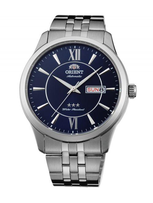 שעון יד ORIENT אוטומטי לגבר עם רצועת מתכת דגם FAB0B001D9