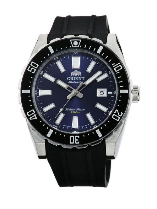 שעון צלילה ORIENT אוטומטי לגבר עם רצועת סיליקון דגם AC09004D