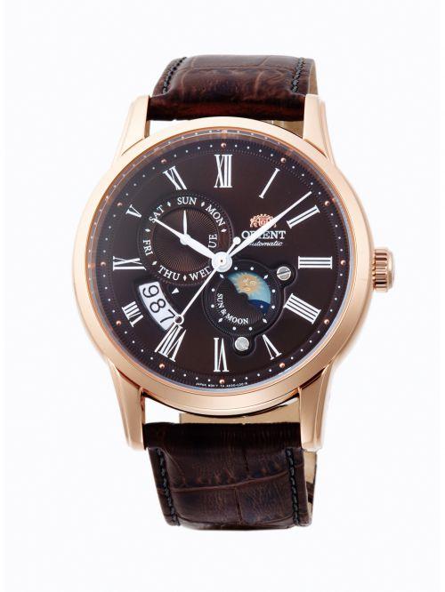 שעון יד ORIENT אוטומטי לגבר עם רצועת עור דגם FAK00003T0