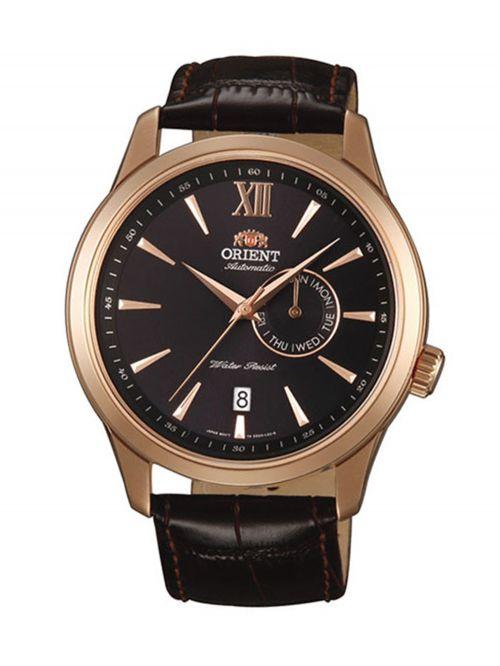 שעון יד ORIENT אוטומטי לגבר עם רצועת עור דגם FES00004B0