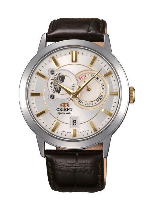 שעון יד ORIENT אוטומטי לגבר קולקציית SUN&MOON דגם ET0P004W0