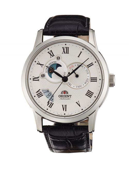 שעון יד ORIENT אוטומטי לגבר קולקציית SUN&MOON דגם ET0T002S