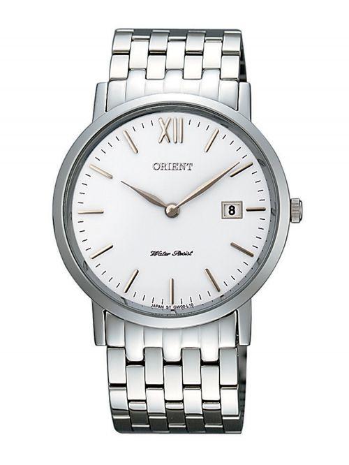שעון יד ORIENT עם רצועת מתכת דגם GW00004W