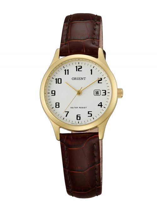 שעון יד ORIENT לאישה עם רצועת עור דגם FSZ3N003W0