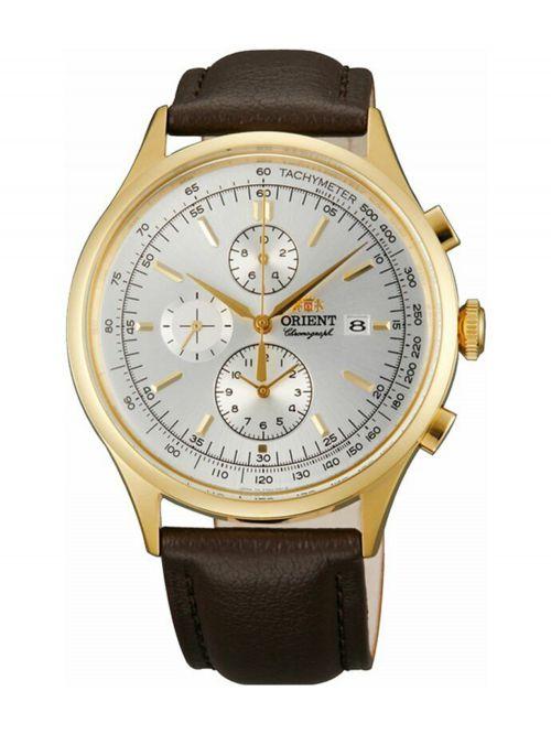 שעון יד ORIENT לגבר עם רצועת עור דגם TT0V002W0