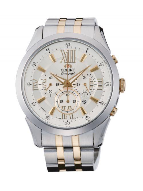 שעון יד ORIENT אוטומטי לגבר עם רצועת מתכת דגם TW04002S0