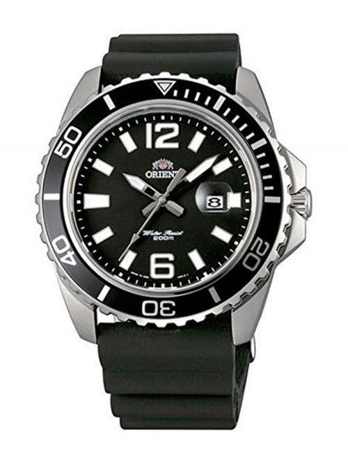 שעון צלילה ORIENT לגבר עם רצועת סיליקון דגם FUNE3004B0