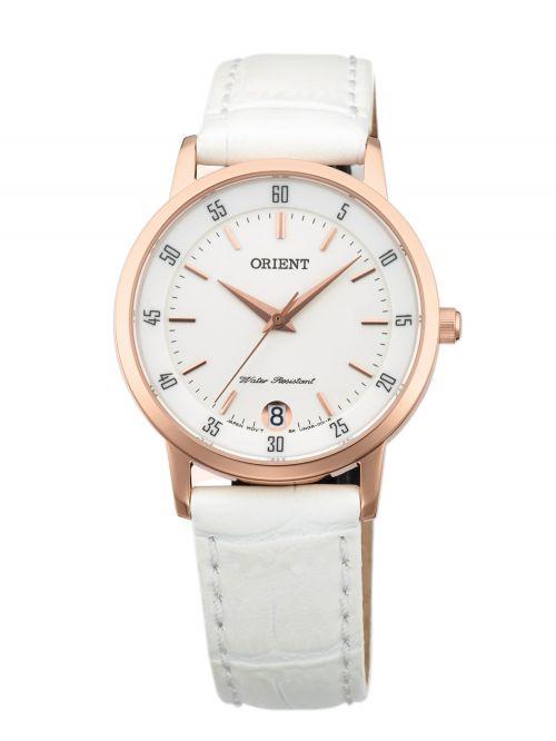 שעון יד ORIENT לאישה עם רצועת עור דגם FUNG6002W0