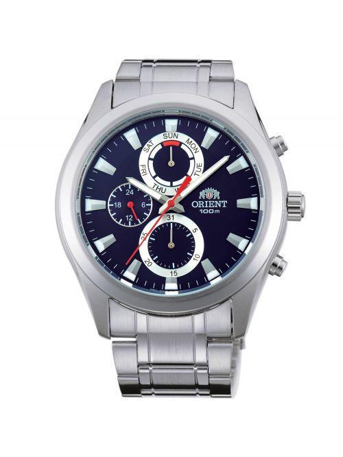 שעון יד ORIENT לגבר עם רצועת מתכת דגם FUY07001D0