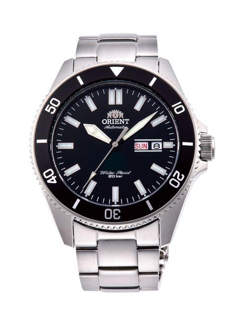 שעון צלילה ORIENT אוטומטי לגבר עם רצועת מתכת דגם RA-AA0008B19B