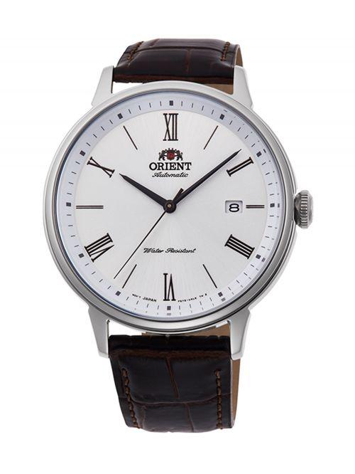 שעון יד ORIENT אוטומטי לגבר עם רצועת עור דגם RA-AC0J06S10B