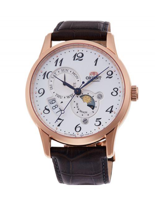 שעון ORIENT אוטומטי קולקציית SUN & MOON דגם RA-AK0001S