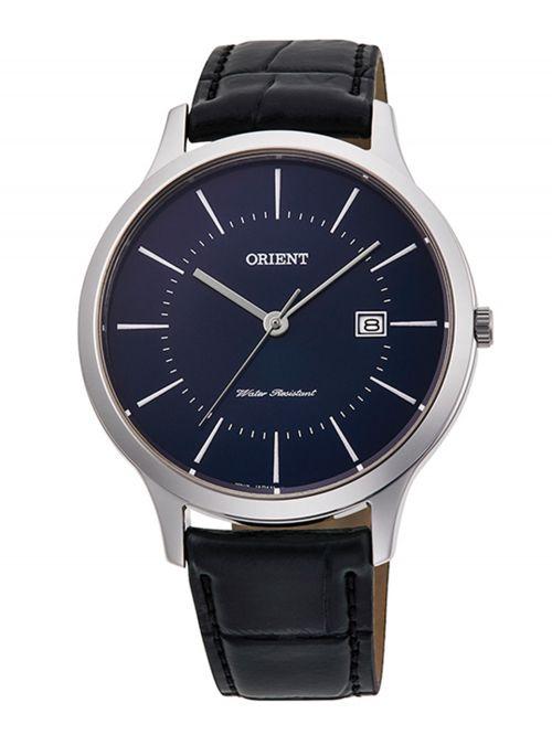 שעון יד לגבר מבית Orient קולקציית Contemporary רצועת עור דגם QD0005L10B