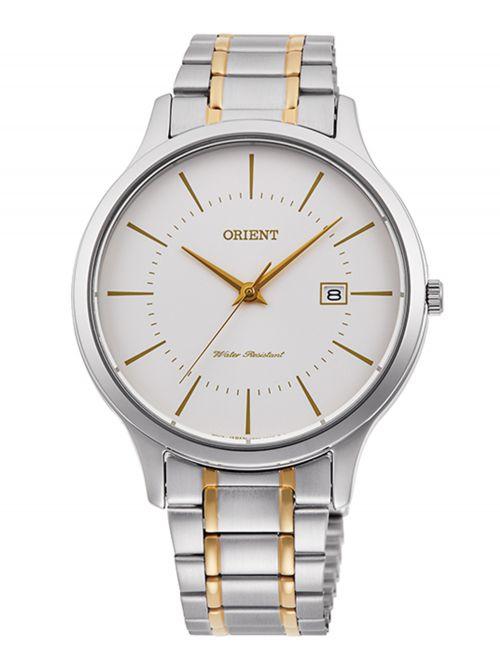 שעון יד קוורץ לגבר מבית Orient קולקציית Contemporary דגם QD0010S10B