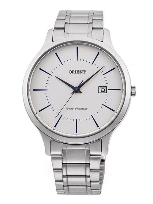 שעון יד קוורץ לגבר מבית Orient קולקציית Contemporary רצועת מתכת דגם QD0012S10B