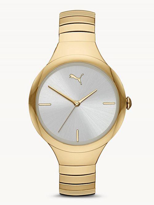 שעון לאישה PUMA בצבע זהב  דגם P1027