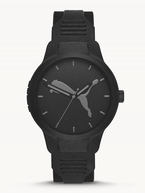 שעון לגבר PUMA בצבע שחור רצועת סיליקון דגם P5004