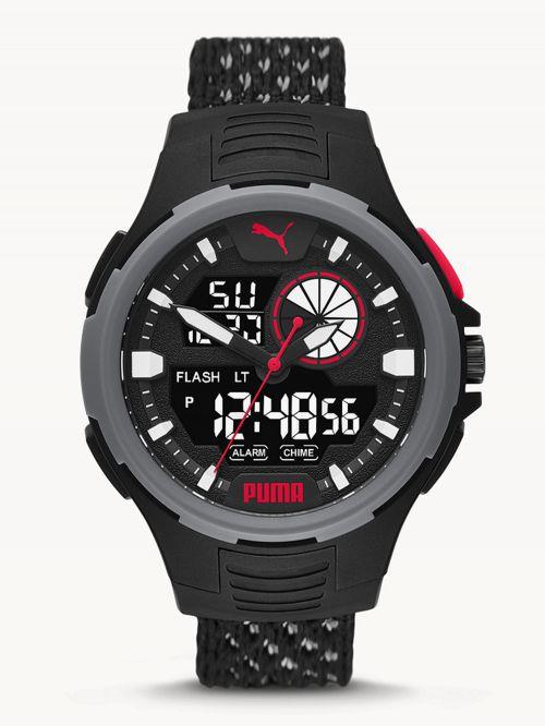 שעון  דיגיטלי לגבר PUMA בצבע  שחור דגם P5073