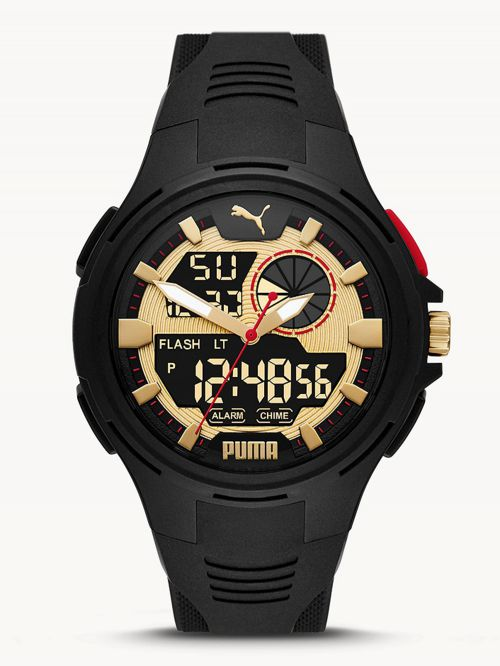 שעון  דיגיטלי לגבר PUMA בצבע  שחור דגם P5078