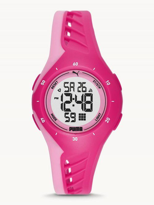 שעון  דיגיטלי לאישה PUMA בצבע  ורוד דגם P6008