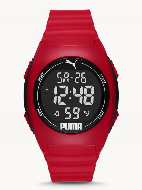 שעון דיגיטלי  לגבר PUMA בצבע  אדום דגם P6014