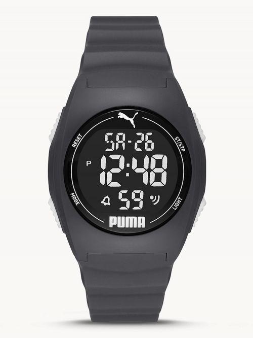 שעון דיגיטלי  לגבר PUMA בצבע  אפור כהה דגם P6016