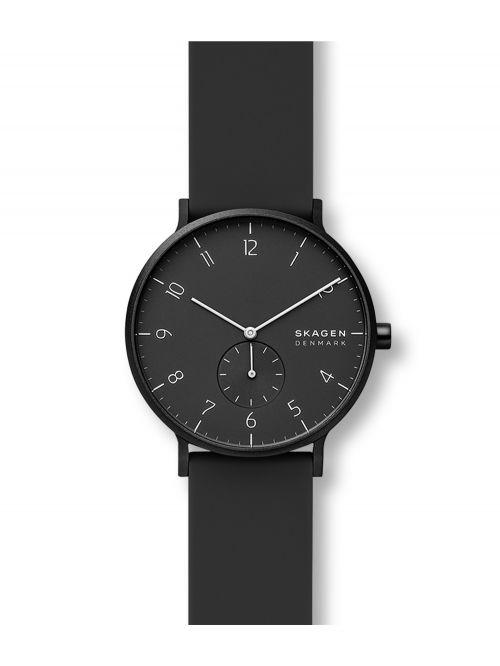 שעון יד SKAGEN לגבר עם רצועת סיליקון קולקציית AAREN דגם SKW6544