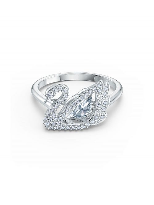 טבעת SWAROVSKI קולקציית DANCING SWAN מידה 60 דגם 5534844