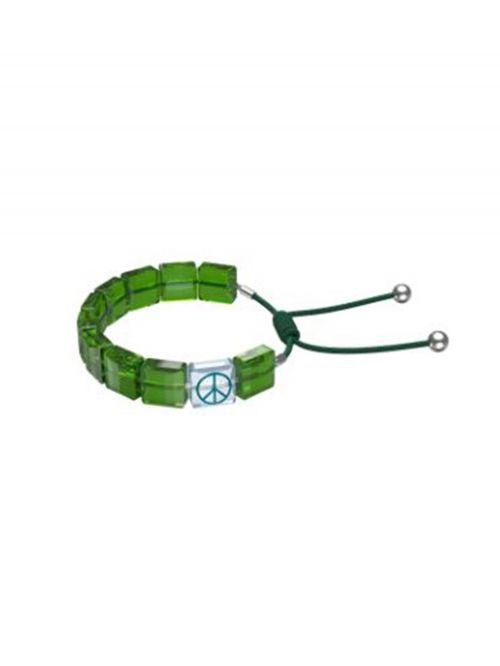 צמיד ירוק SWAROVSKI קולקציית LETRA דגם 5615003