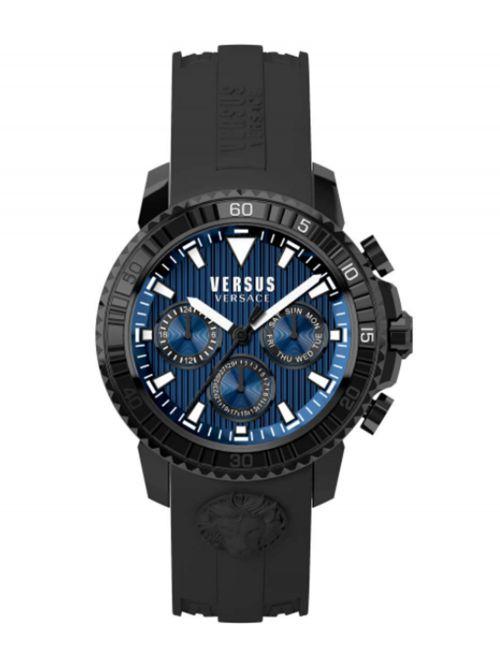 שעון יד לגבר VERSUS VERSACE עם רצועת סיליקון שחורה דגם S30060017