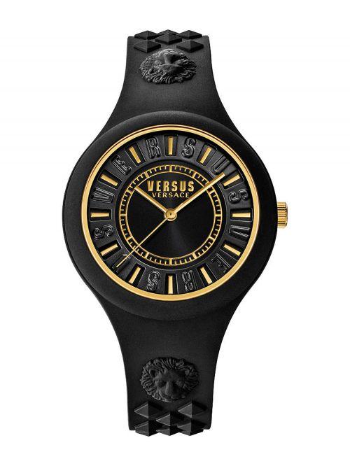 שעון יד  VERSUS VERSACE רצועת סיליקון שחורה דגם SOQ050015