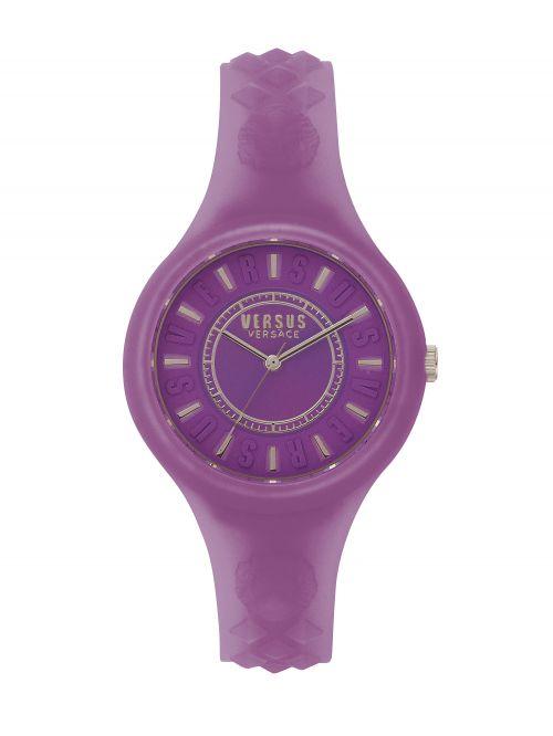 שעון יד  VERSUS VERSACE רצועת סיליקון סגולה דגם SOQ1117
