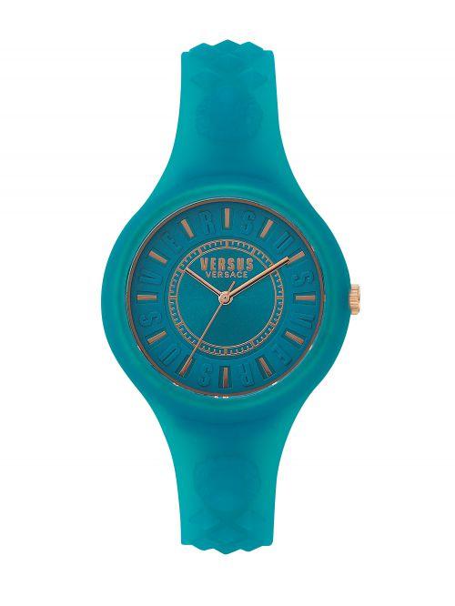 שעון יד  VERSUS VERSACE רצועת סיליקון טורקיז דגם SOQ1417
