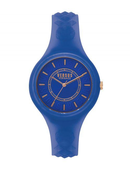 שעון יד  VERSUS VERSACE רצועת סיליקון כחולה דגם SOQ1517