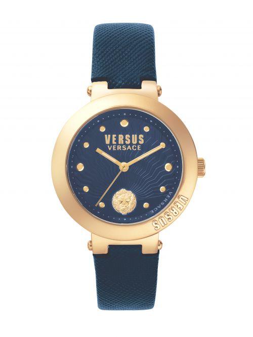 שעון יד  VERSUS VERSACE עם רצועת עור שחורה דגם SP370817