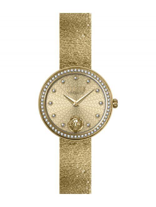 שעון יד VERSUS VERSACE עם רצועת מתכת זהובה דגם VSPEN1520
