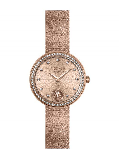 שעון יד VERSUS VERSACE עם רצועת מתכת בזהב אדום דגם VSPEN1620