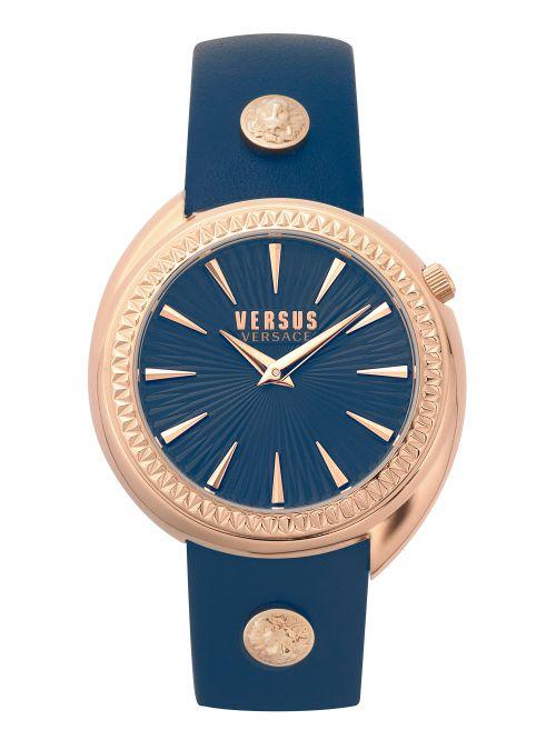שעון יד VERSUS VERSACE עם רצועת עור כחולה  VSPHF0520