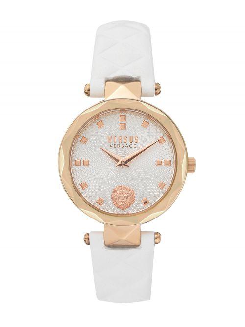שעון יד  VERSUS VERSACE עם רצועת עור לבנה דגם VSPHK0320