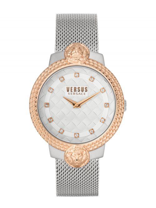 שעון יד נשים VERSUS VERSACE עם רצועת מתכת כסופה דגם VSPLK1520