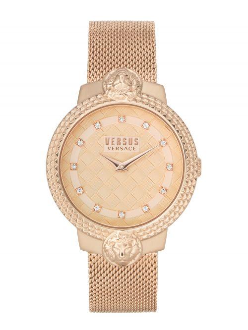 שעון יד נשים VERSUS VERSACE עם רצועת רוז גולד דגם VSPLK1820