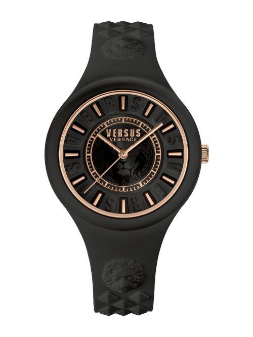 שעון יד  VERSUS VERSACE רצועת סיליקון שחורה דגם VSPOQ5119