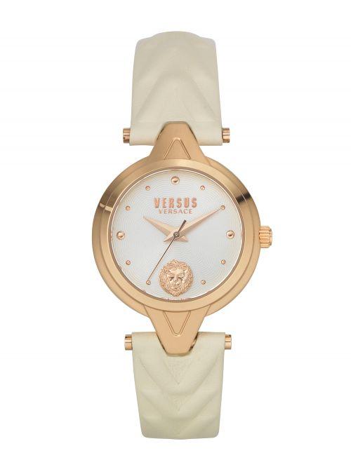 שעון יד  VERSUS VERSACE עם רצועת עור שמנת דגם VSPVN0420