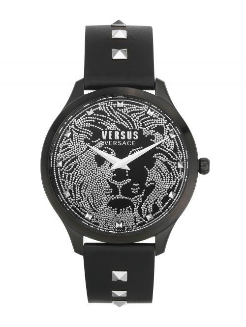 שעון יד  VERSUS VERSACE עם רצועת עור שחורה דגם VSPVQ0420
